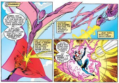 Dinah Soar (Earth-616) vs Melissa Gold (Earth-616) from Thunderbolts Vol 1 16 001