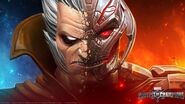 Taneleer Tivan (Earth-TRN517) and Ultron (AU) (Earth-TRN517) from from Marvel Contest of Champions 001