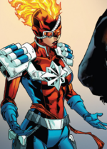 Captain Peace (Carol) (Warp World) (Earth-616) from Secret Warps Ghost Panther Annual Vol 1 1 001