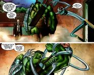 Charles Xavier (Earth-616), Bruce Banner (Earth-616), and Cessily Kincaid (Earth-616) from World War Hulk X-Men Vol 1 3 0001