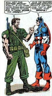 Nick Fury and Captain America circa 1944 from Captain America Annual Vol 1 9