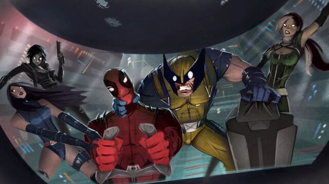 File:Wade Wilson (Earth-13625) and X-Men (Earth-13625) from Deadpool (video game) 0001.jpg