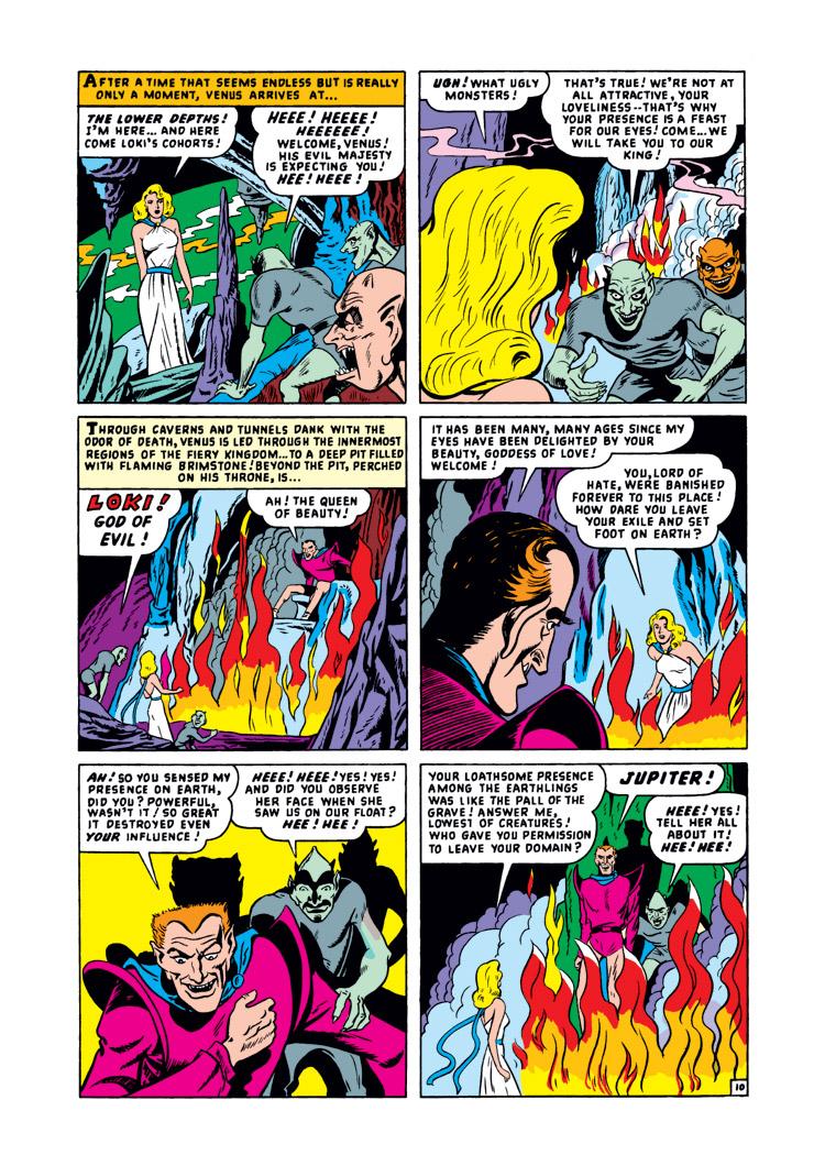 Loki Laufeyson (Earth-616) and Aphrodite Ourania (Earth-616) from Venus Vol 1 6 0001