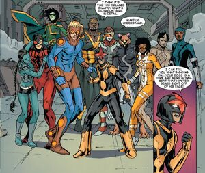 Samuel Alexander (Earth-616) and New Warriors (Earth-616) and Eternals (Earth-616) from New Warriors Vol 5 12