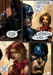 Steven Rogers (Earth-1610) and Janet Van Dyne (Earth-1610) from Ultimates 3 Vol 1 1 001