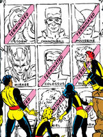 X-Men (Earth-8720) and New Mutants (Earth-8720) from New Mutants Vol 1 48 0001