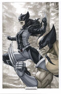 Generations Wolverine & All-New Wolverine Vol 1 1 Artgerm Exclusive Copic Variant Textless
