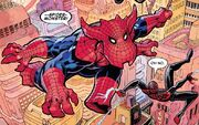 Spider-Monster (Earth-1411319) and Miles Morales (Earth-1610) from Spider-Verse Vol 3 1 001