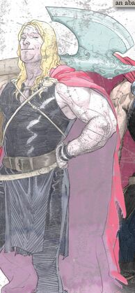 Thor Odinson (Earth-616) armed with Jarjarborn from Thor God of Thunder Vol 1 2