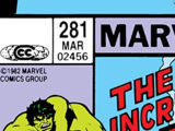 Incredible Hulk Vol 1 281