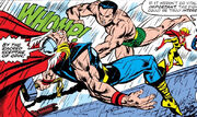 Namor McKenzie (Earth-616) and Thor Odinson (Earth-616) from Invaders Vol 1 33 0001