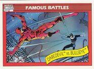 Matthew Murdock vs. Bullseye (Lester) (Earth-616) from Marvel Universe Cards Series I 0001
