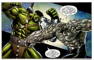 Santo Vaccarro (Earth-616) and Bruce Banner (Earth-616) from World War Hulk X-Men Vol 1 1 001