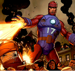 Sentinel 17 (Earth-616) from X-Men Schism Vol 1 2 0002