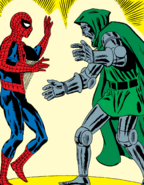 Victor von Doom (Earth-616) and Peter Parker (Earth-616) from Amazing Spider-Man Vol 1 5 0001
