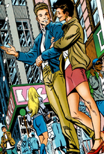 Edward Leeds (Earth-98121) and Elizabeth Brant (Earth-98121) from Spider-Man Chapter One Vol 1 12 001