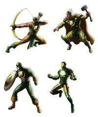 Hydra Four (Earth-12131) from Marvel Avengers Alliance 0001