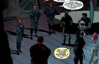 X-Force (Strike Team) (Earth-12928) and X-Force (Strike Team) (Earth-616) from Uncanny X-Force Vol 1 29 0001
