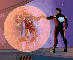 Anthony Stark (Earth-616) and Arno Stark (Earth-616) from Iron Man 2020 Vol 2 6 001