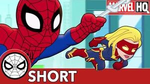 Spidey & Captain Marvel Fight..