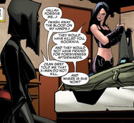 Laura Kinney (Earth-616) and Sooraya Qadir (Earth-616) from New X-Men Vol 2 29 0001