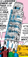 Leaning Tower of Pisa from Avengers Vol 1 12 001