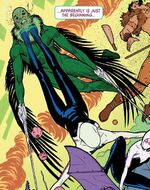 Vulture (Arcade Android) (Earth-616), Gwendolyn Stacy (Earth-65), and Venom (Symbiote) (Earth-65) from Ghost-Spider Annual Vol 1 1 001