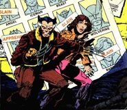 James Howlett (Earth-811) and Katherine Pryde (Earth-811) from X-Men Vol 1 141 (Cover)