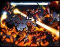 Avengers (Earth-97161) and Pet Avengers (Earth-97161) from Avengers vs. Pet Avengers Vol 1 3 0001.jpg