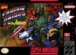 Captain America & The Avengers SNES cover