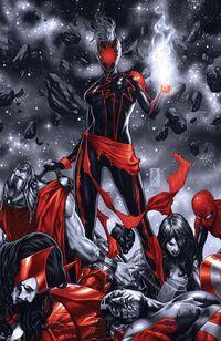 Captain Marvel Vol 10 12 Spot Color Virgin Variant