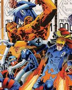 Fantastic Four (Uatu's creation) (Earth-928) from Fantastic Four 2099 Vol 1 2 Cover