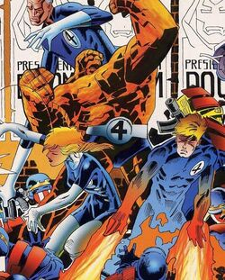 Fantastic Four (Uatu's creation) (Earth-928) from Fantastic Four 2099 Vol 1 2 Cover