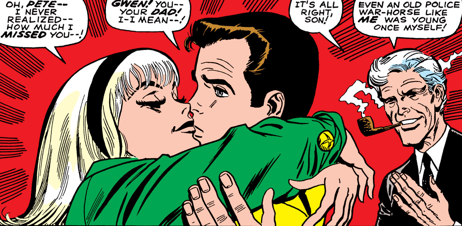 Peter Parker Earth 616 First Kiss With Gwen Stacy From Amazing Spider Man Vol 1 59