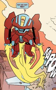 Doreen Green (Earth-616) with borrowed Iron Man Armor from Unbeatable Squirrel Girl Vol 1 3 001