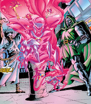 Seer (Latverian) (Earth-616), Onslaught (Psychic Entity) (Earth-616), and Victor von Doom (Earth-616) from X-Men and Doctor Doom Annual Vol 1 1998 001