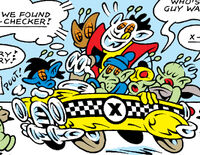 X-Bugs (Earth-8311) and X-Checker from Peter Porker, The Spectacular Spider-Ham Vol 1 2 0001