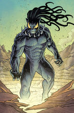N'Jadaka (Intergalactic Empire of Wakanda) (Earth-616) and N'Jadaka's Symbiote (Earth-616) from Black Panther Vol 7 19 001