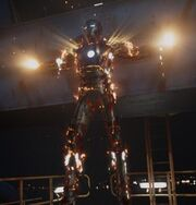 Aldrich Killian (Earth-199999) with Iron Man Armor MK XLII (Earth-199999) from Iron Man 3 (film) 001
