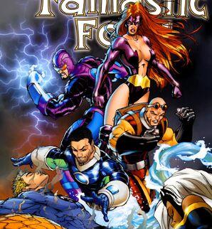 Frightful Four (Earth-616) Wizard, Titania, Trapster, Hydroman from Fantastic Four Vol 1 549