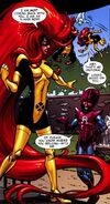 Medusalith Amaquelin (Earth-616) in X-Men training uniform from X-Men First Class Vol 2 15