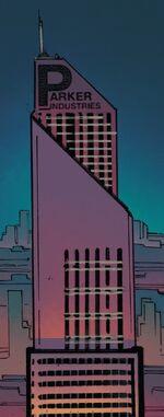 Parker Industries (Warp World) (Earth-616) from Infinity Wars Arachknight Vol 1 1 001