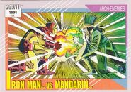 Anthony Stark vs. Mandarin (Earth-616) from Marvel Universe Cards Series II 0001