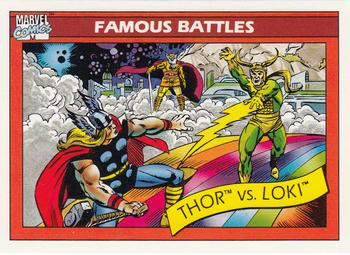 Thor Odinson vs. Loki Laufeyson (Earth-616) from Marvel Universe Cards Series I 0001