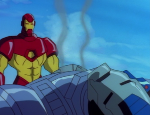 Anthony Stark and James Rhodes (Earth-534834) from Iron Man The Animated Series Season 2 9 0001
