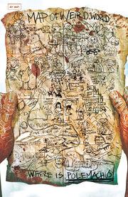 Arkon's Map of Weirdworld from Weirdworld Vol 1 1