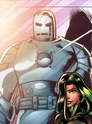 Iron Man Armor MK I (Earth-1610) from Ultimatum Spider-Man Requiem Vol 1 1 001
