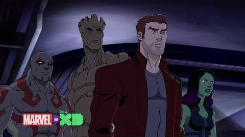 Marvel's GUARDIANS OF THE GALAXY Clip - One in a Million You (2015) Superhero, Disney XD