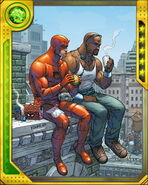 Matthew Murdock (Earth-616) and Luke Cage (Earth-616) from Marvel War of Heroes 001