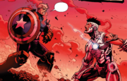Steve Rogers and Tony Stark (Earth-616) from Avengers Vol 5 44